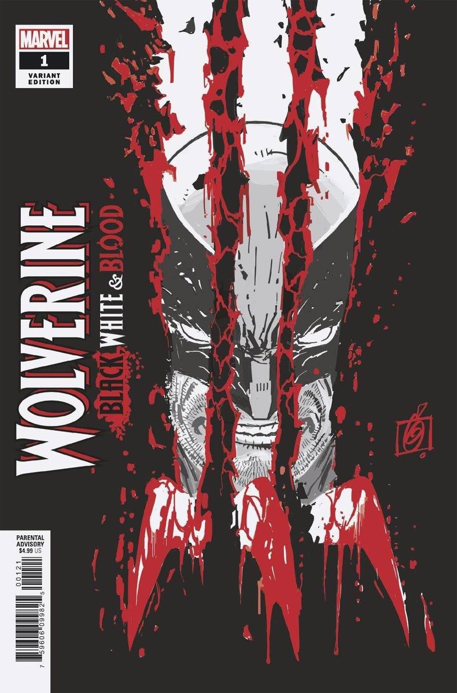Wolverine Black White & Blood #1 Cover B Variant Ron Garney Cover