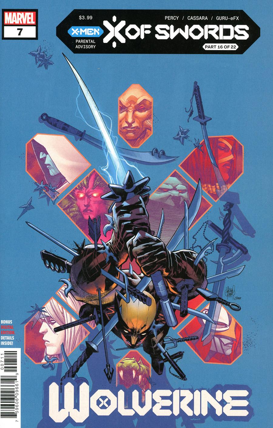 Wolverine Vol 7 #7 Cover A 1st Ptg Regular Adam Kubert Cover (X Of Swords Part 16)