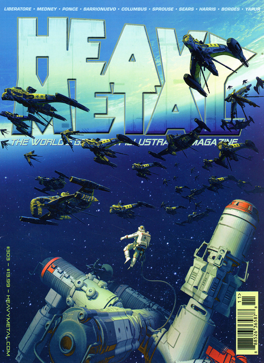 Heavy Metal #303 Cover A Regular Pascal Blanche Cover