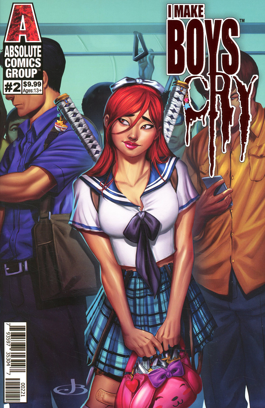 I Make Boys Cry #2 Cover B Variant Jenevieve Broomall Holographic Foil Logo Cover