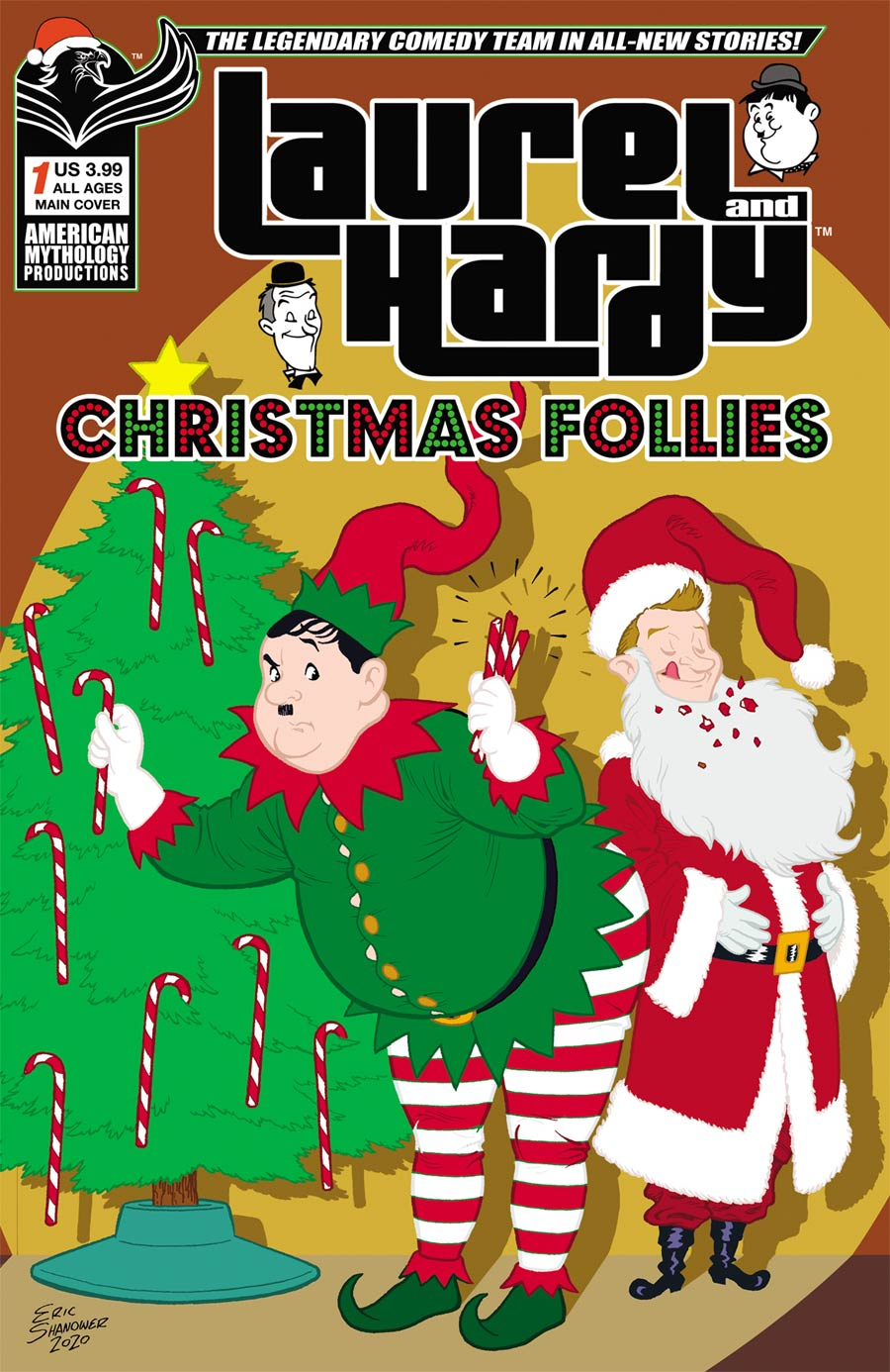 Laurel And Hardy Christmas Follies #1 Cover A Regular Eric Shanower Cover