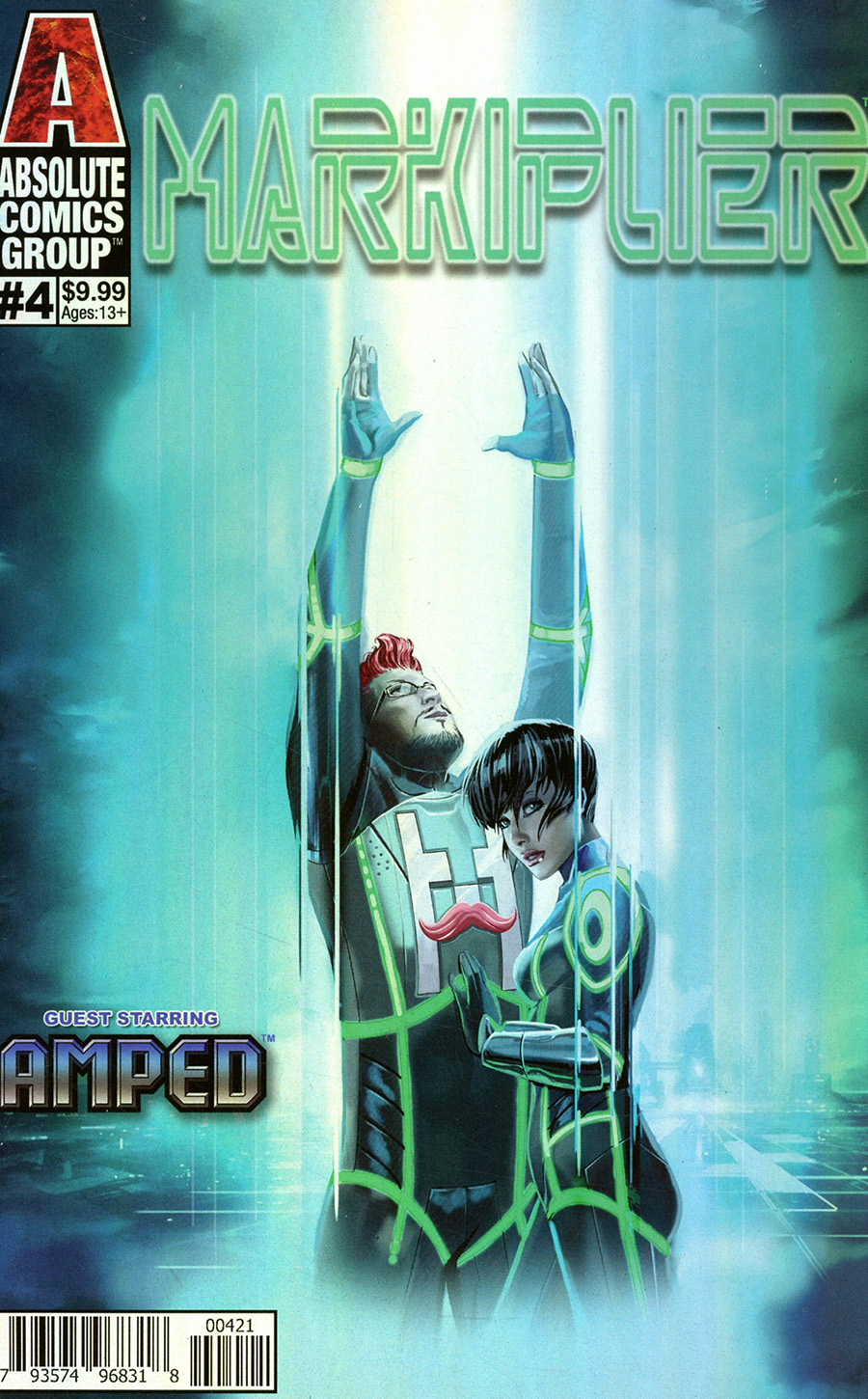 Markiplier #4 Cover B Variant Pasquale Qualano Metallic Ink Cover