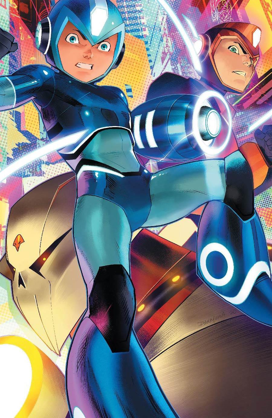 Mega Man Fully Charged #4 Cover B Variant Dan Mora Cover