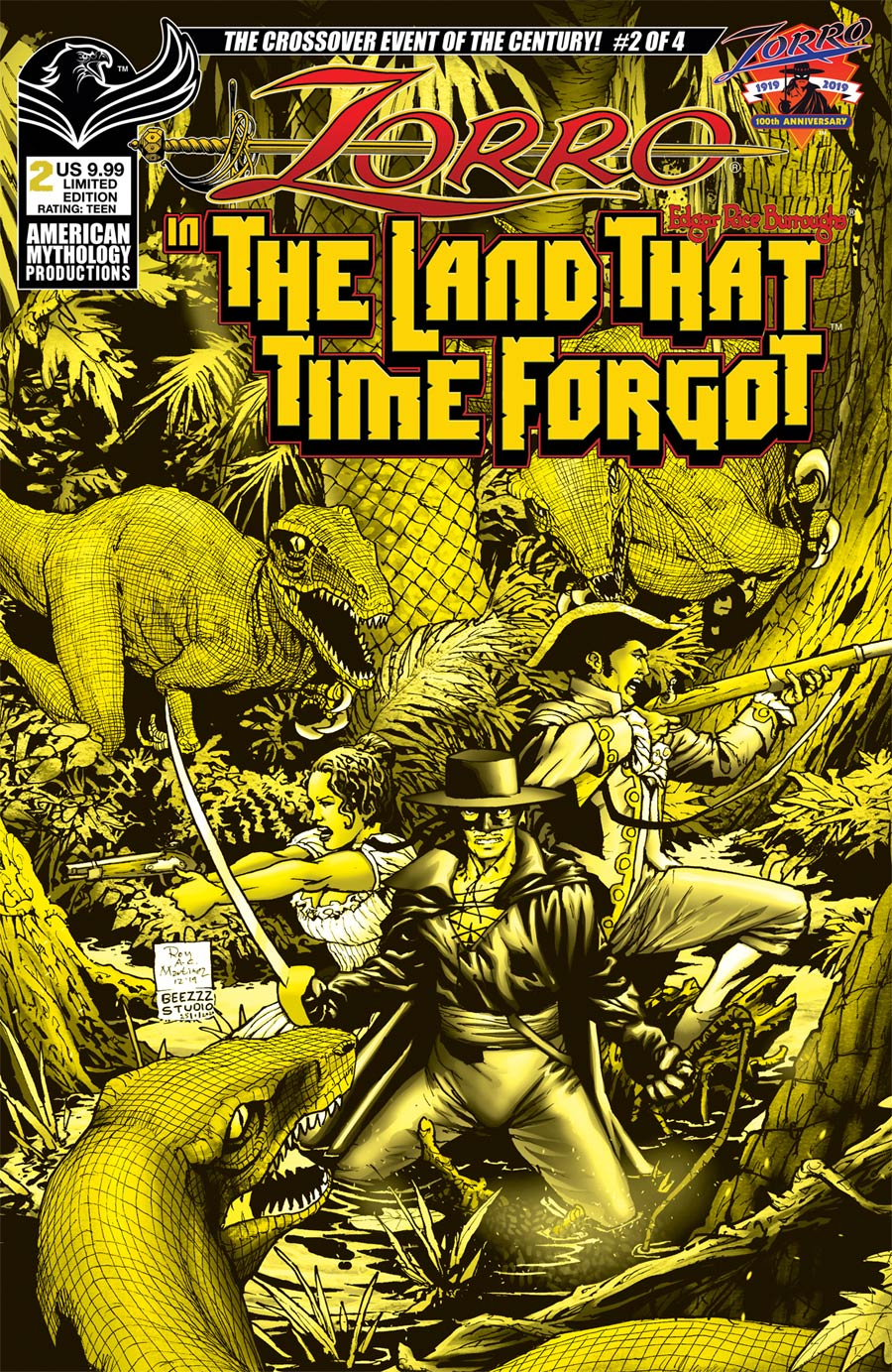 Zorro In The Land That Time Forgot #2 Cover B Limited Edition Roy Allan Martinez Variant Cover