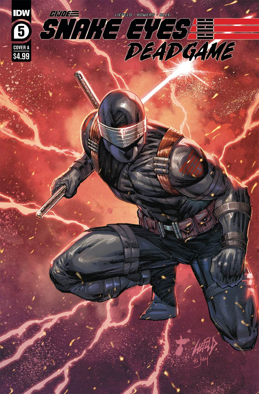 Snake Eyes Deadgame #5 Cover A Regular Rob Liefeld Cover
