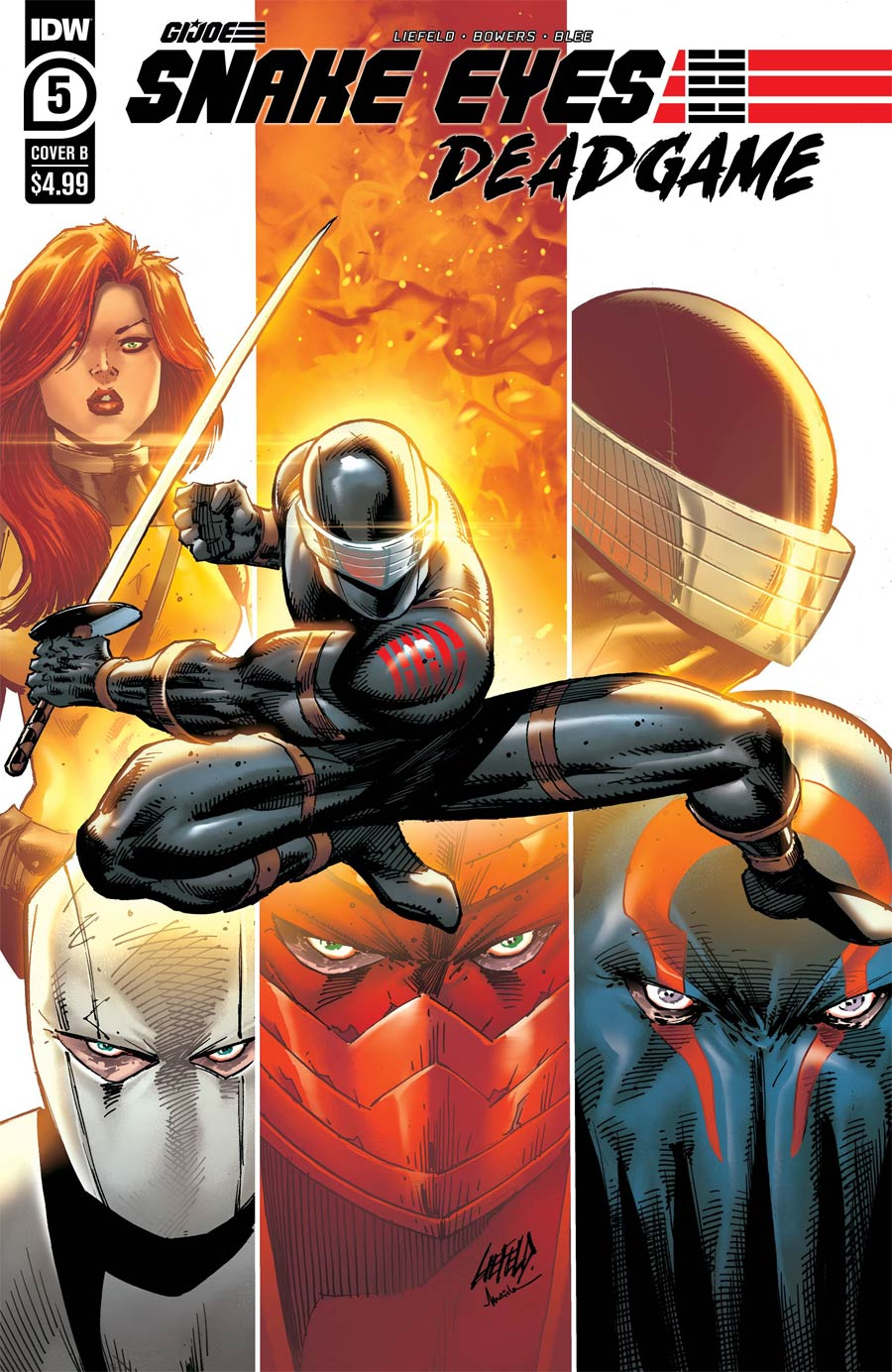Snake Eyes Deadgame #5 Cover B Variant Rob Liefeld Cover