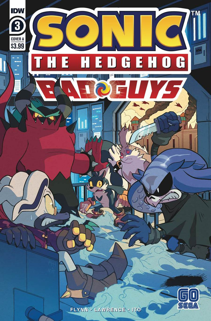 Sonic The Hedgehog Bad Guys #3 Cover A Regular Aaron Hammerstrom Cover