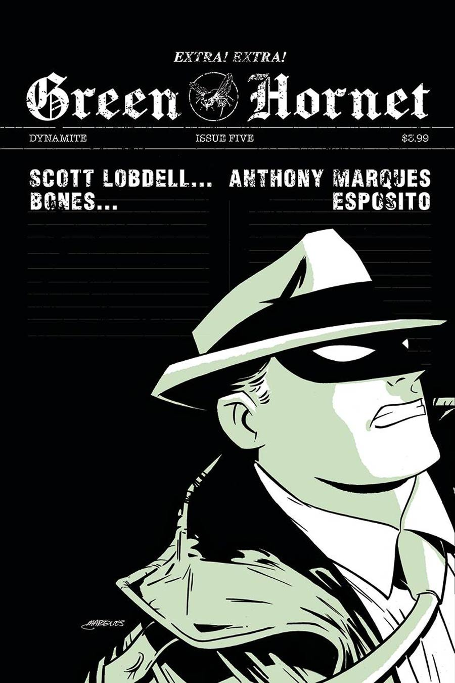 Green Hornet Vol 5 #5 Cover B Variant Anthony Marques Cover