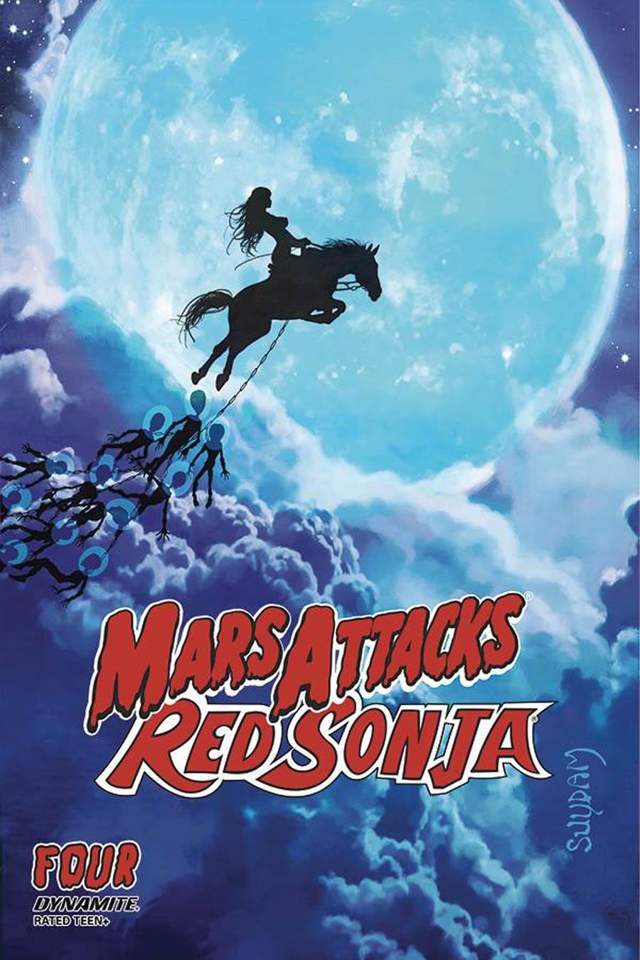 Mars Attacks Red Sonja #4 Cover A Regular Arthur Suydam Cover
