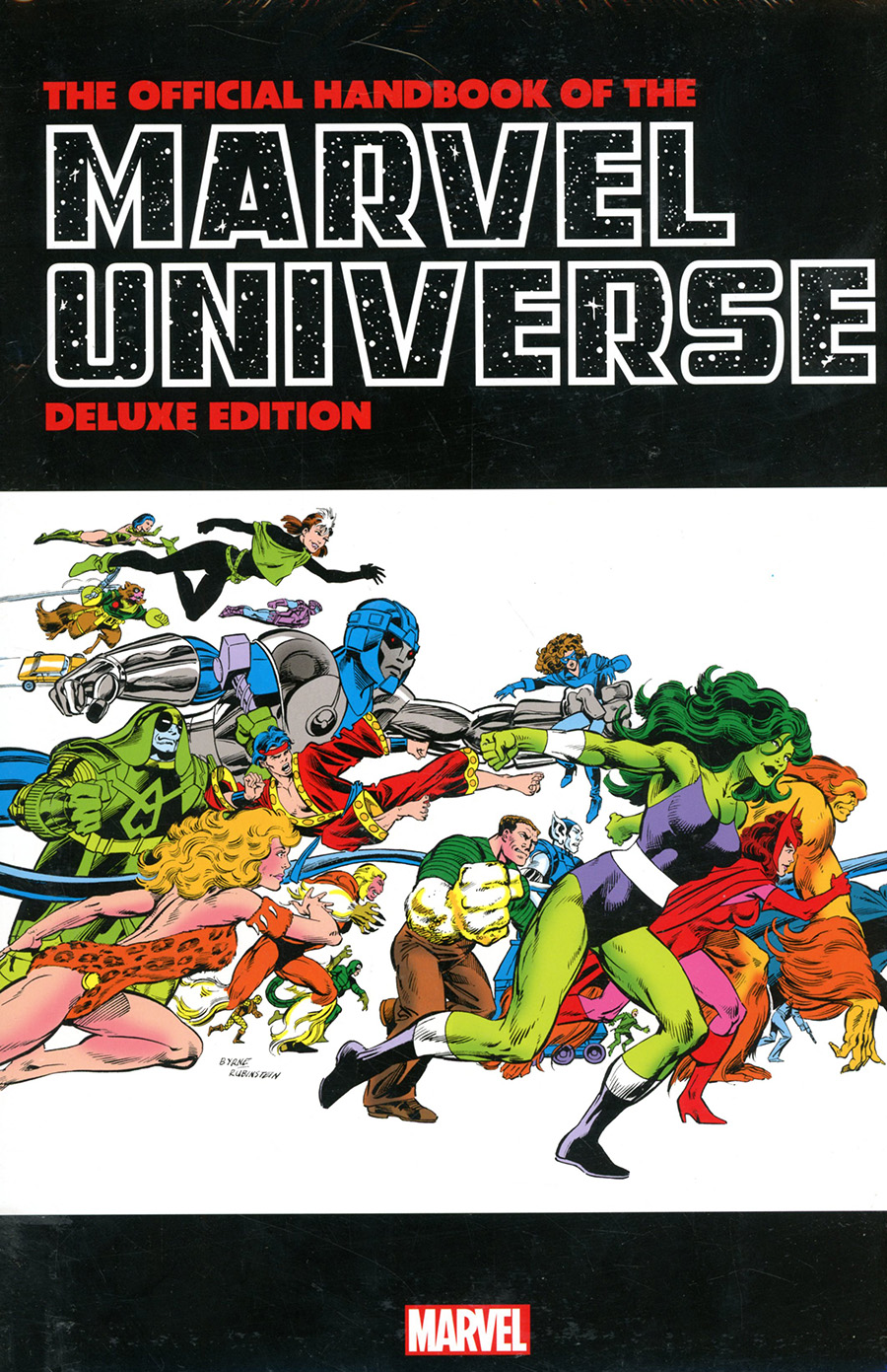 Official Handbook Of The Marvel Universe Deluxe Edition Omnibus HC Book Market John Byrne She-Hulk Cover