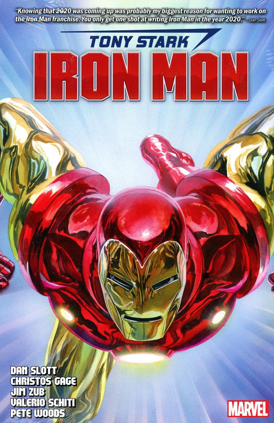 Tony Stark Iron Man By Dan Slott Omnibus HC Direct Market Alex Ross Variant Cover