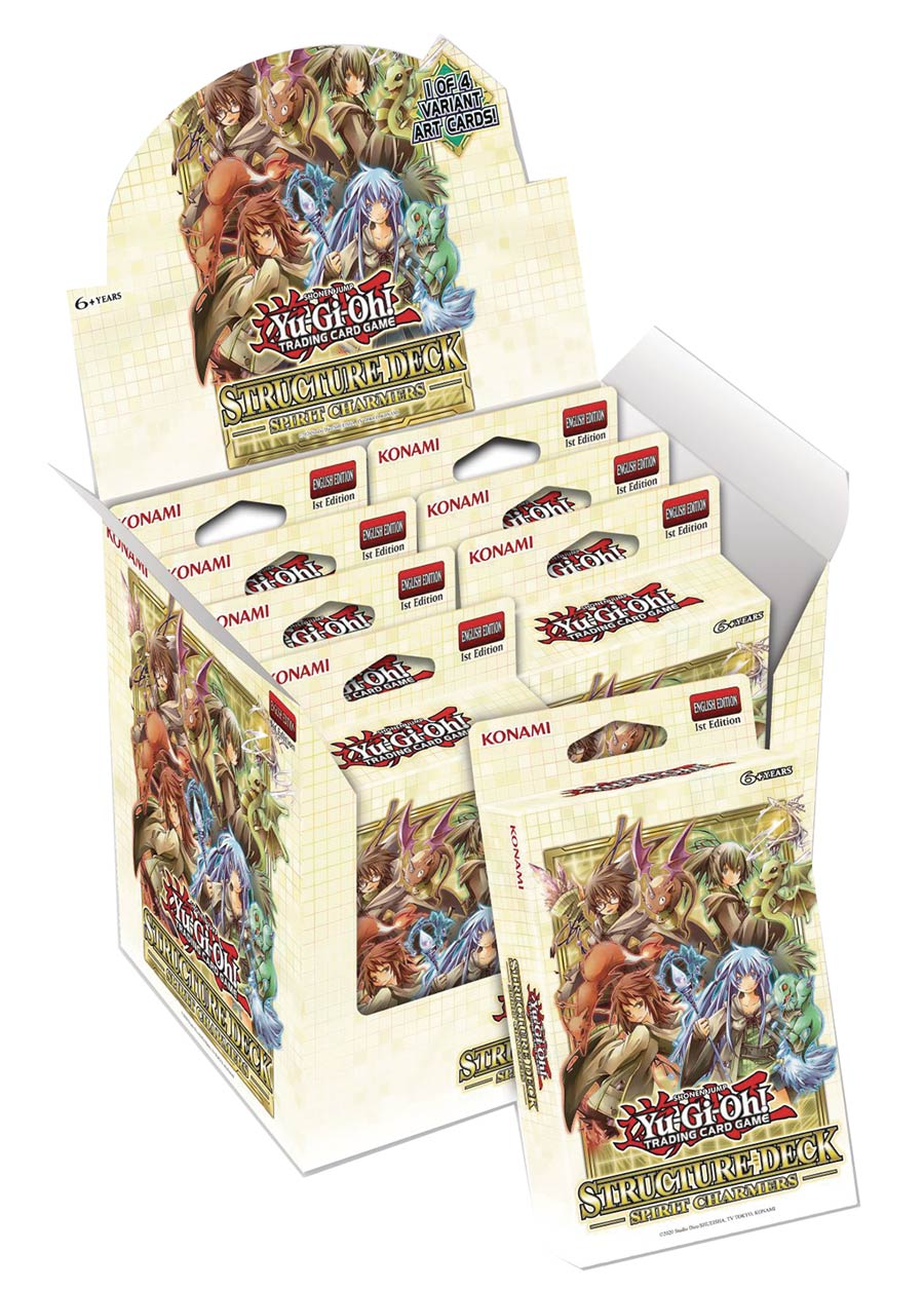 Yu-Gi-Oh Spirit Charmers Structure Deck Display (8-Count)