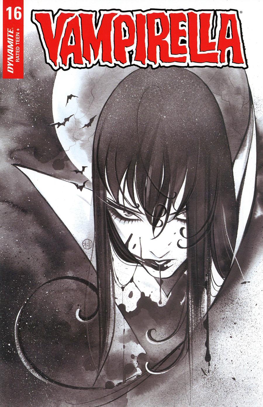 Vampirella Vol 8 #16 Cover Q Incentive Peach Momoko Black & White Cover