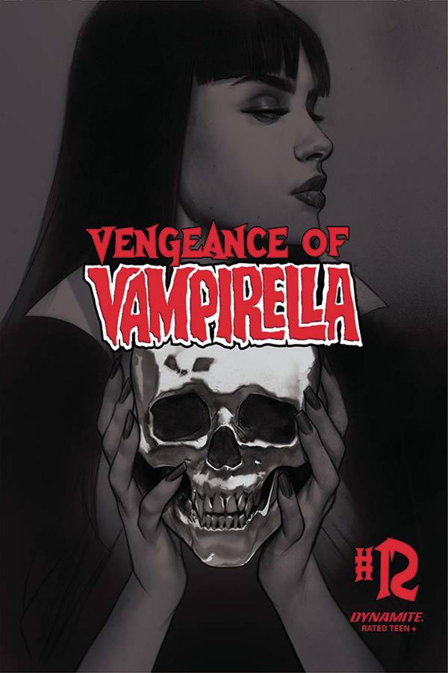 Vengeance Of Vampirella Vol 2 #12 Cover L Incentive Ben Oliver Black & White Cover