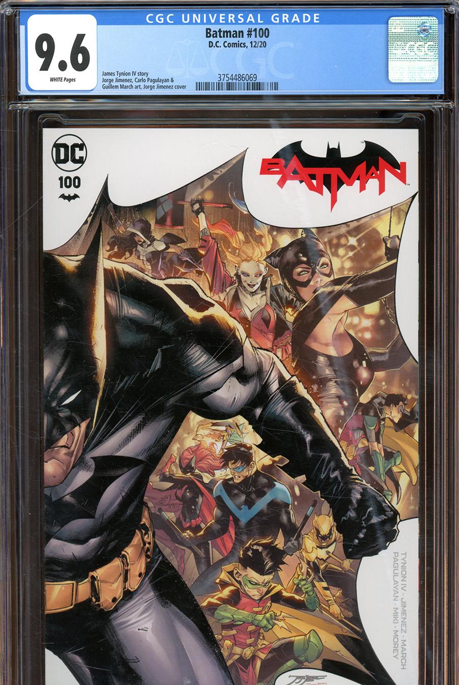 Batman Vol 3 #100 Cover F DF CGC Graded (Joker War Tie-In)