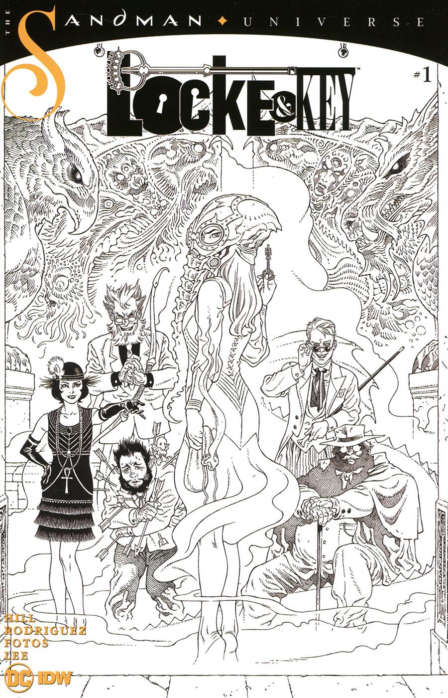 Locke & Key Sandman Hell & Gone #1 Cover D Incentive Gabriel Rodriguez Black & White Cover