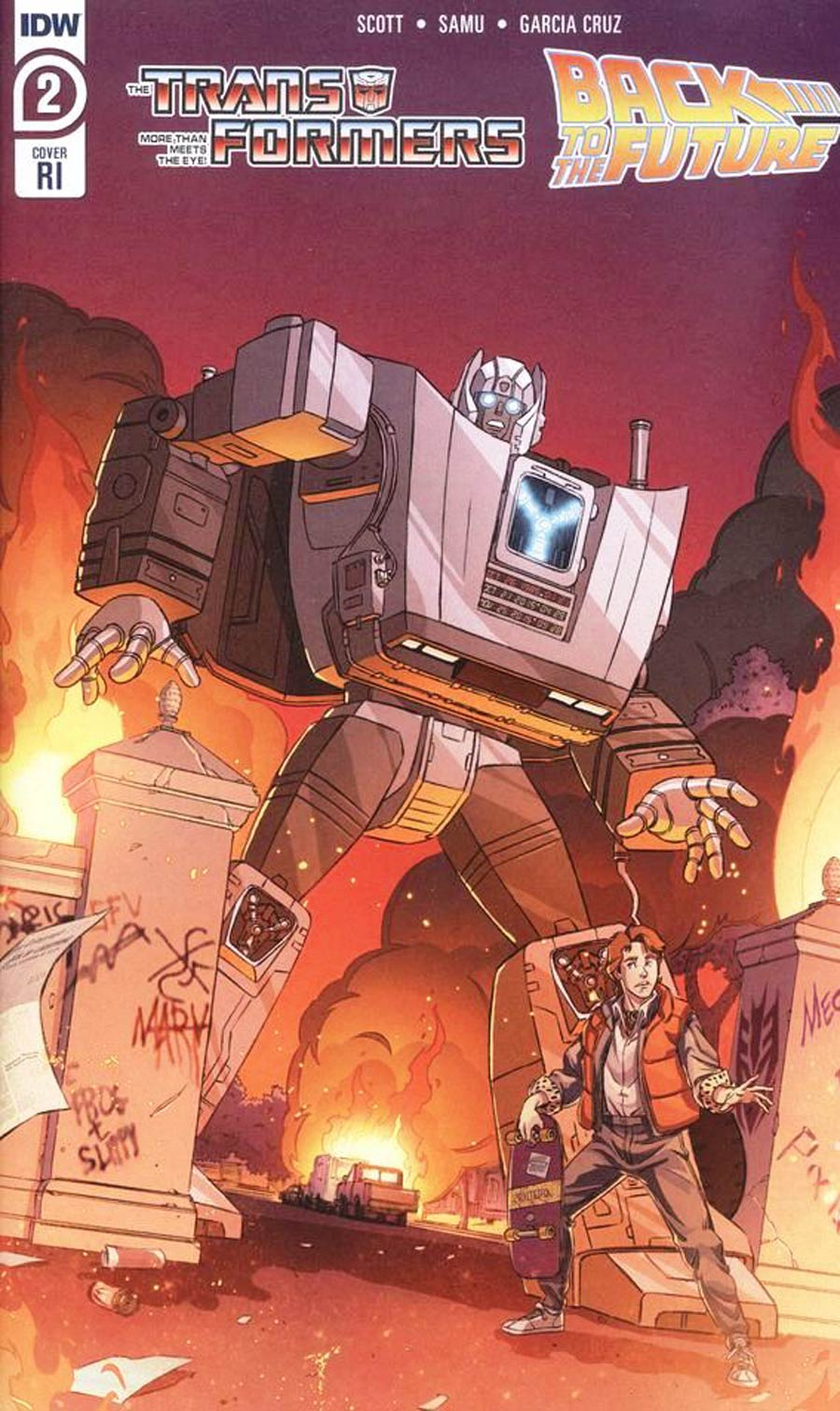 Transformers Back To The Future #2 Cover C Incentive Dan Schoening Variant Cover