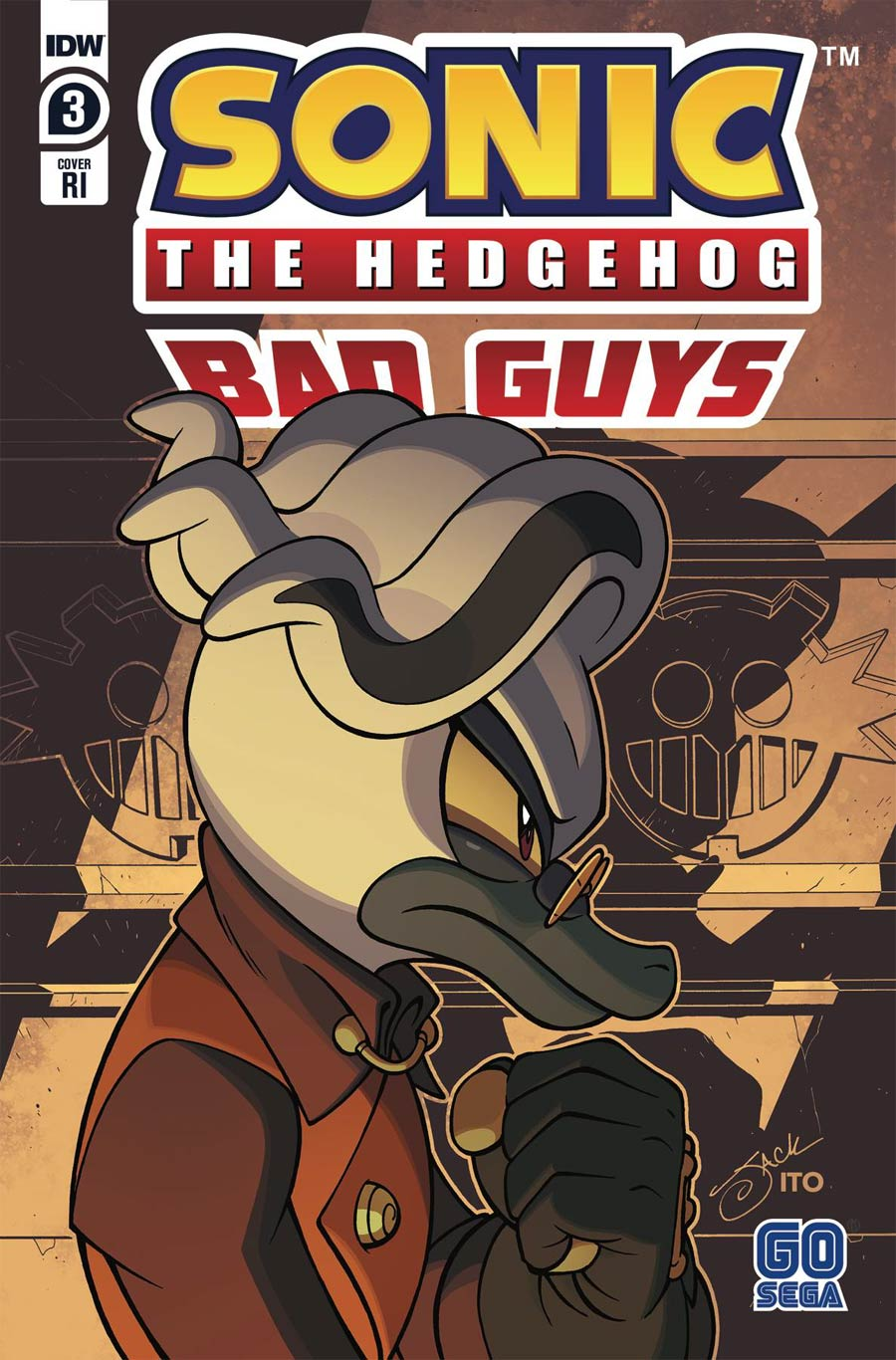 Sonic The Hedgehog Bad Guys #3 Cover C Incentive Jack Lawrence Variant Cover