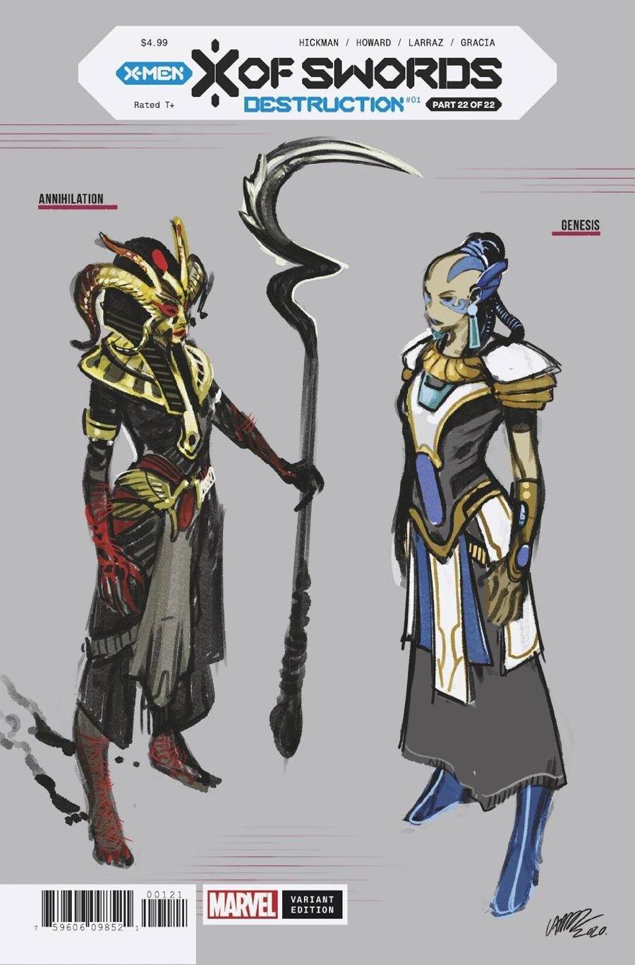 X Of Swords Destruction #1 Cover E Incentive Pepe Larraz Design Variant Cover (X Of Swords Part 22)