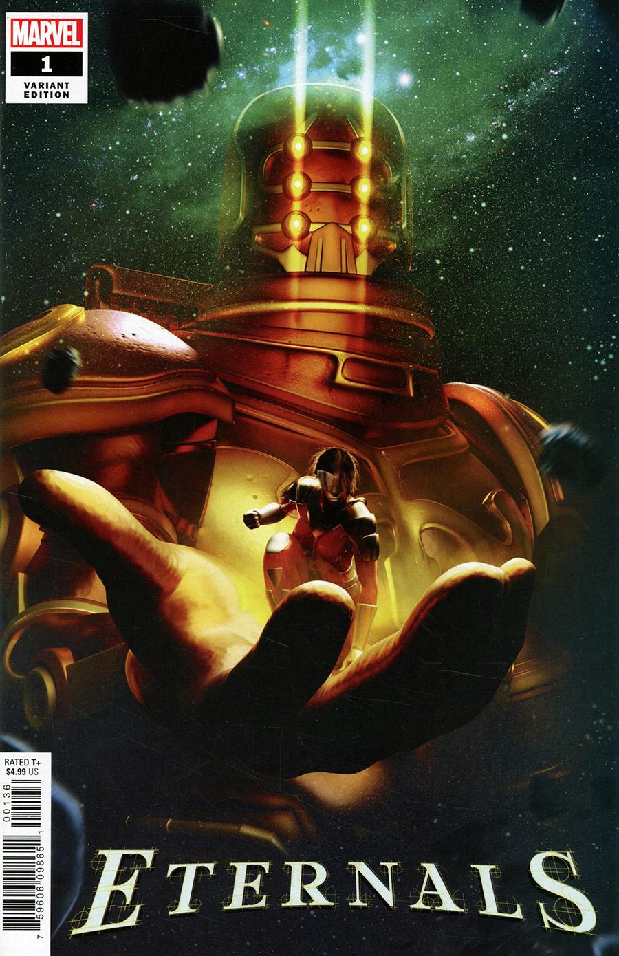Eternals Vol 5 #1 Cover Z-E Incentive BossLogic Variant Cover