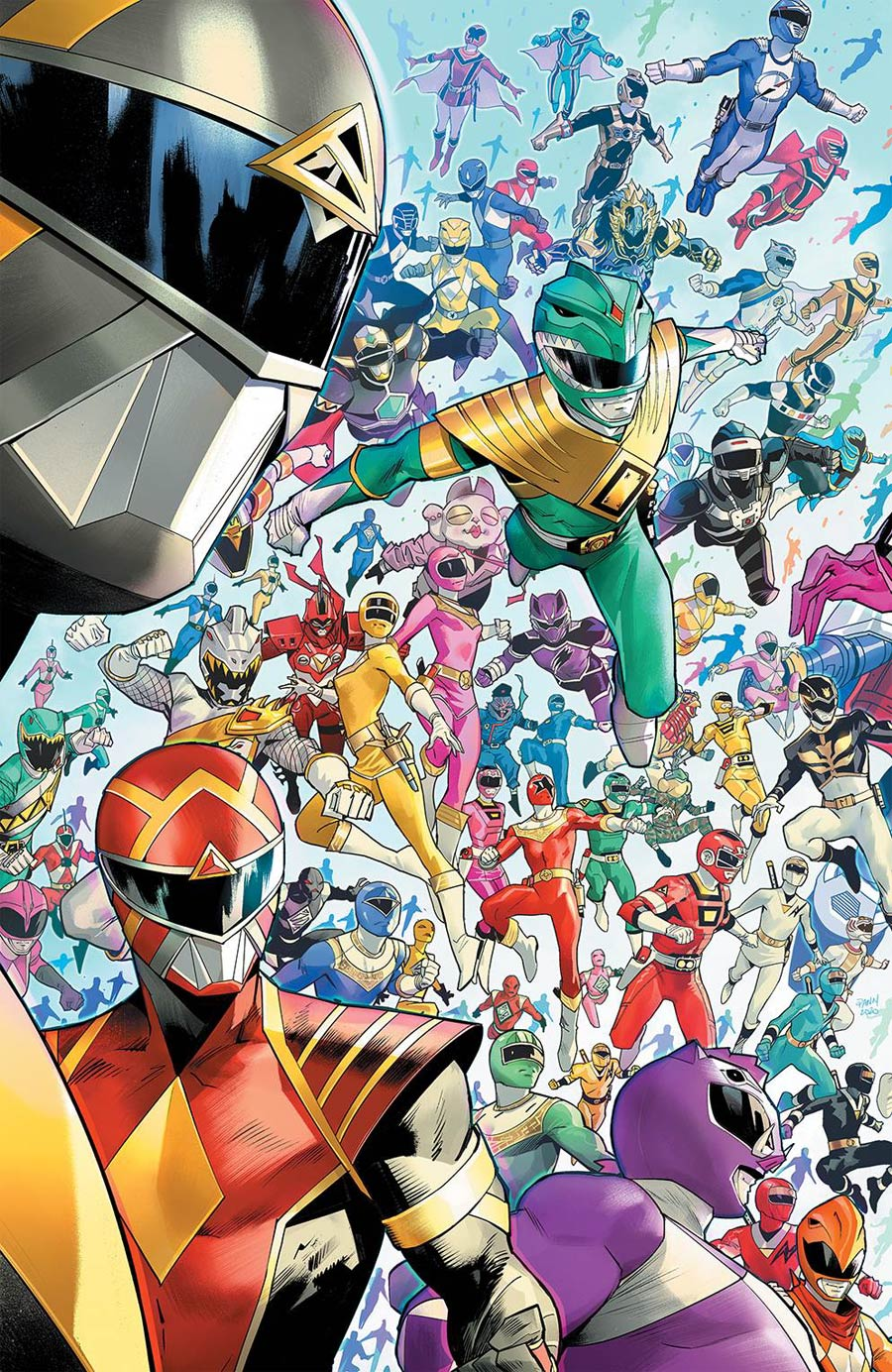 Mighty Morphin #1 Cover E Incentive Dan Mora Every Ranger Ever Variant Cover