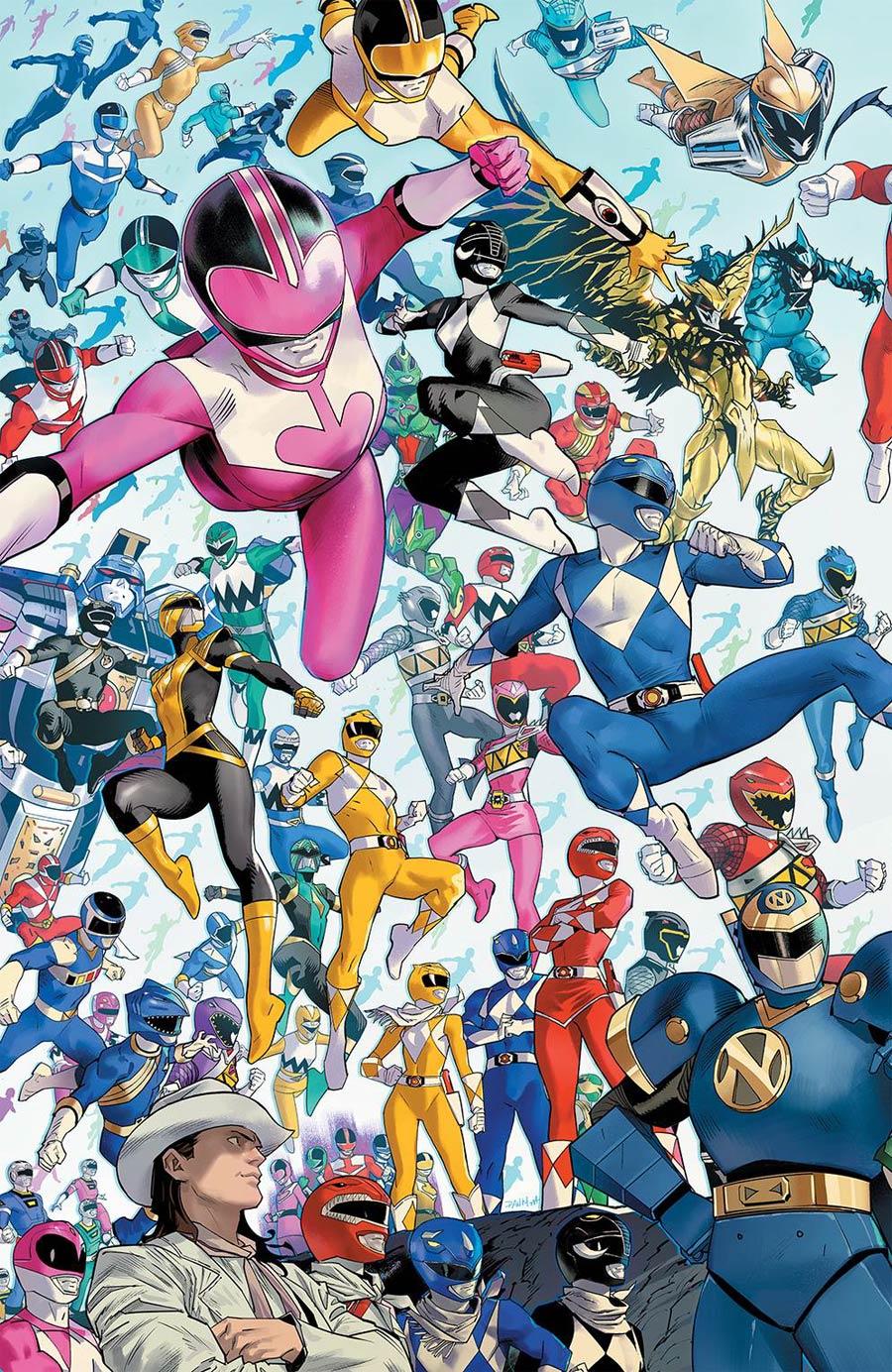 Power Rangers #1 Cover E Incentive Dan Mora Every Ranger Ever Variant Cover