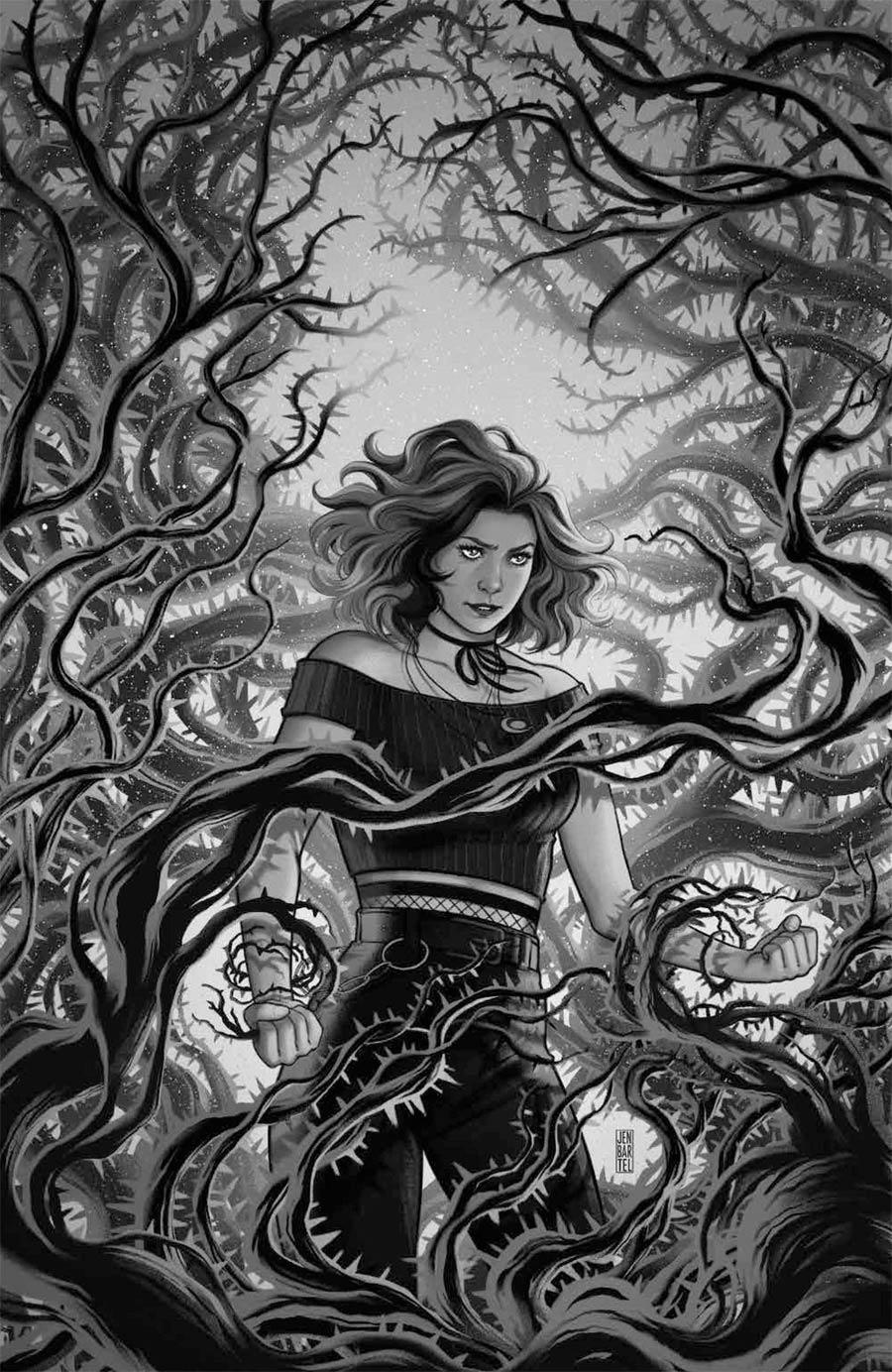 Buffy The Vampire Slayer Willow #5 Cover D Incentive Jen Bartel Black & White Virgin Cover