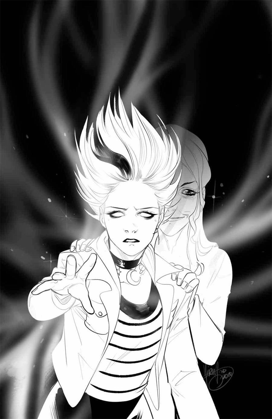 Buffy The Vampire Slayer Willow #5 Cover E Incentive Mirka Andolfo Black & White Virgin Cover