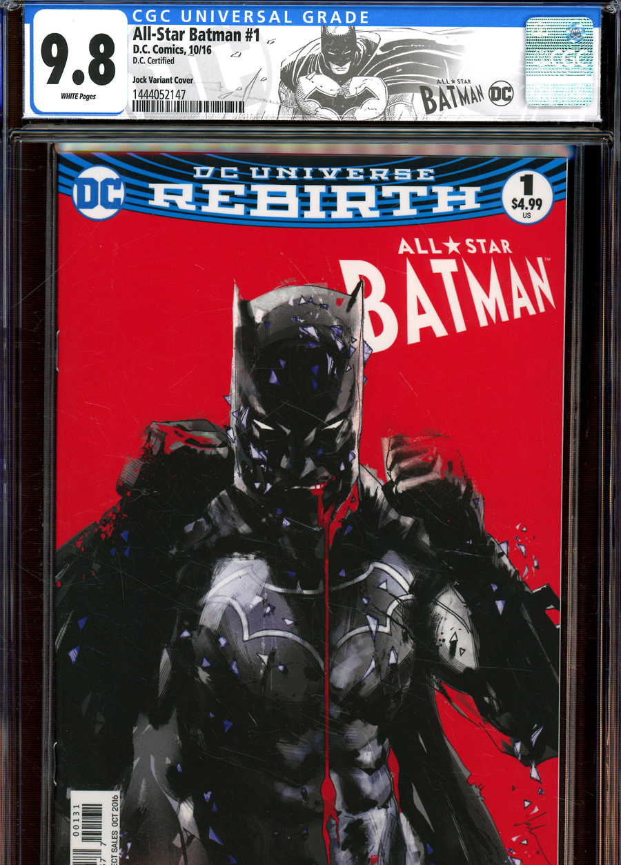 All-Star Batman #1 Cover U Variant Jock Cover DC Certified Label CGC 9.8