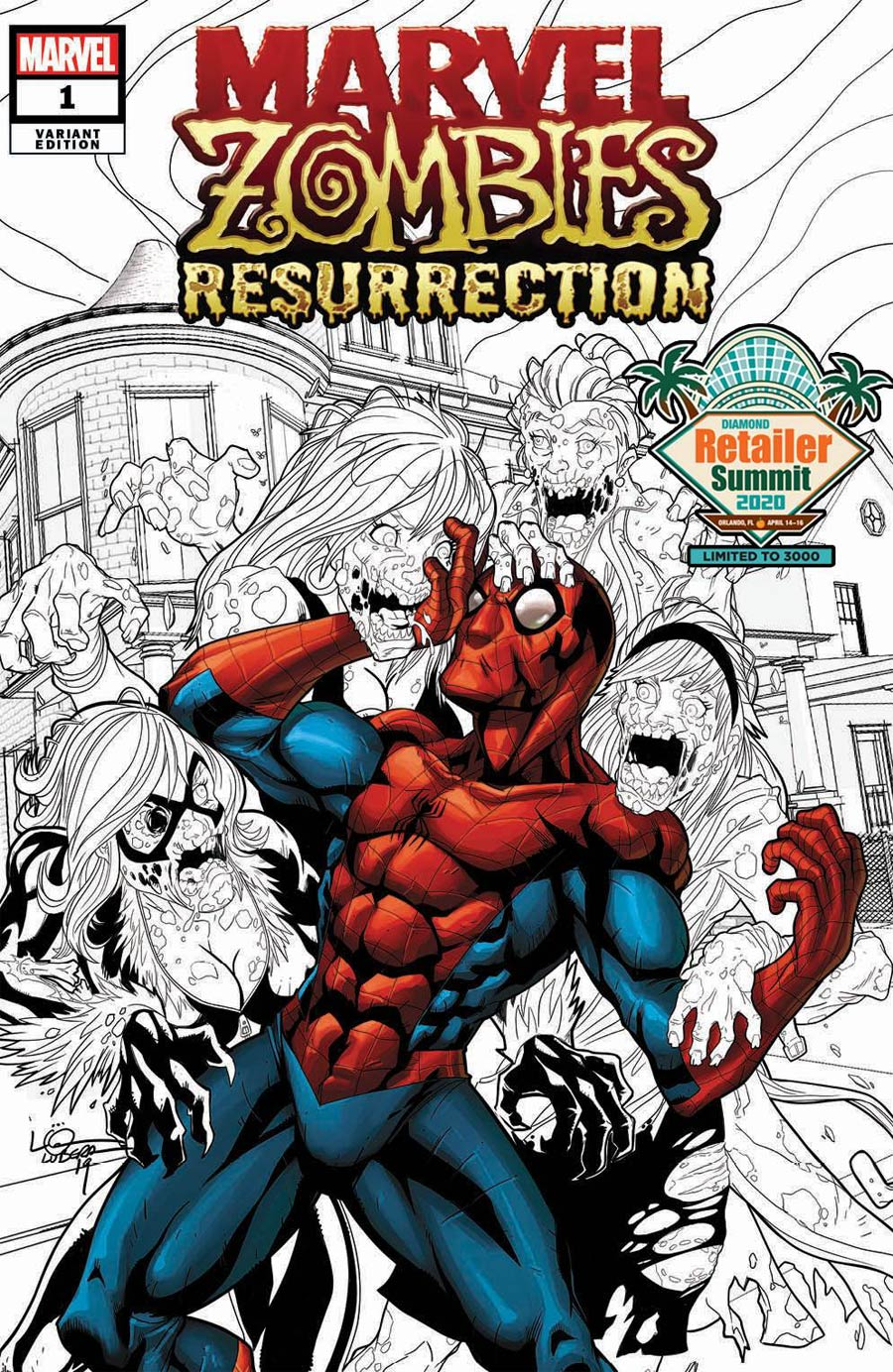 Marvel Zombies Resurrection #1 Cover H Retailer Summit 2020 Logan Lubera Variant Cover