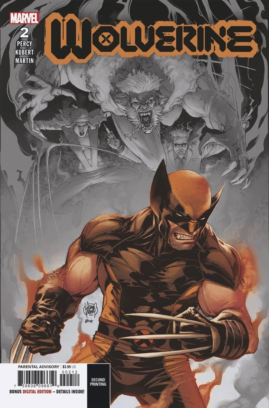 Wolverine Vol 7 #2 Cover F 2nd Ptg Adam Kubert Variant Cover (Dawn Of X Tie-In)