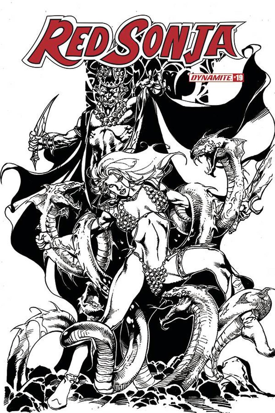 Red Sonja Vol 8 #19 Cover I Incentive Roberto Castro Black & White Cover