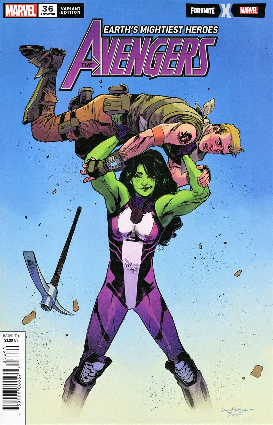 Avengers Vol 7 #36 Cover D Variant Sara Pichelli Fortnite Cover