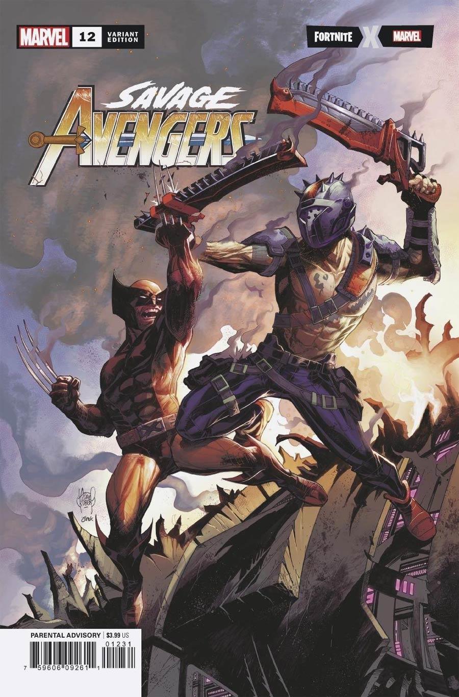 Savage Avengers #12 Cover B Variant Adam Kubert Fortnite Cover