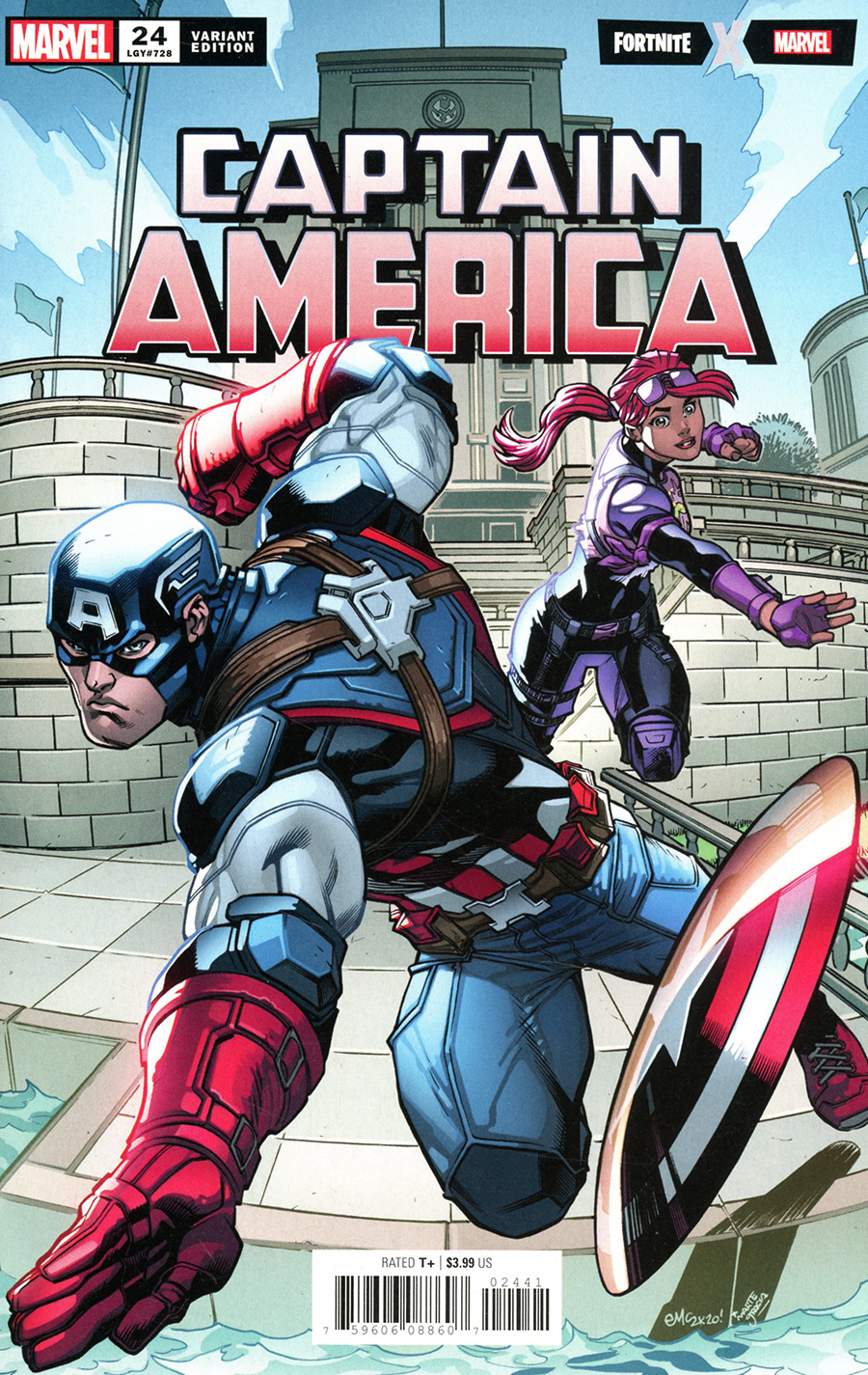Captain America Vol 9 #24 Cover D Variant Ed McGuinness Fortnite Cover