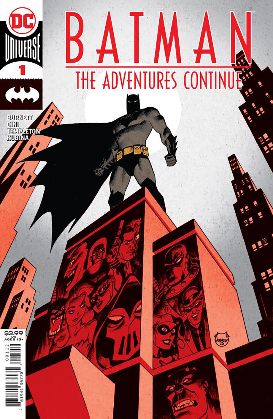 Batman The Adventures Continue #1 Cover G 2nd Ptg Dave Johnson Recolored Variant Cover