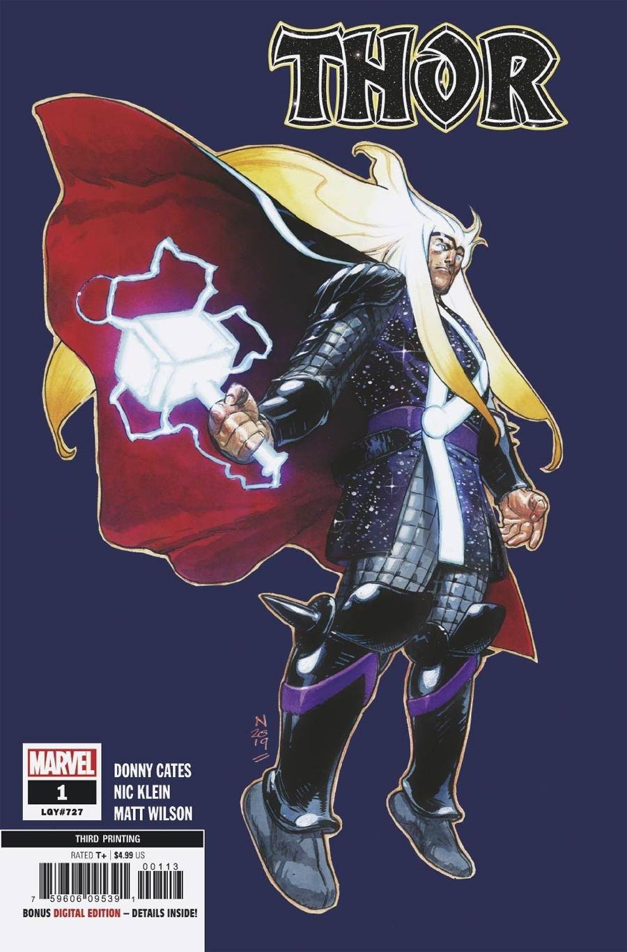 Thor Vol 6 #1 Cover X 3rd Ptg Nic Klein Variant Cover
