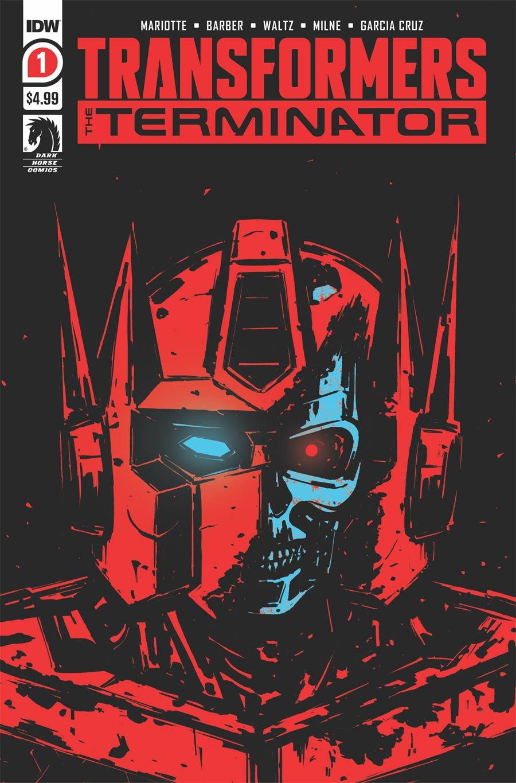 Transformers vs Terminator #1 Cover E 2nd Ptg