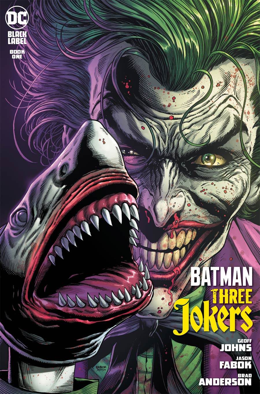 Batman Three Jokers #1 Cover G 2nd Ptg Joker Shark Variant Cover
