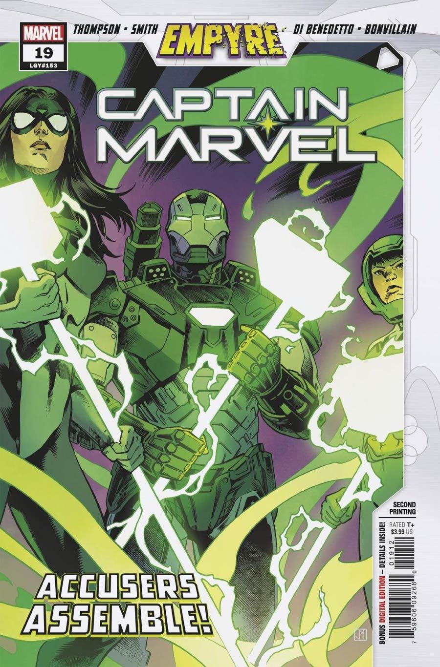 Captain Marvel Vol 9 #19 Cover C 2nd Ptg Variant Cover (Empyre Tie-In)