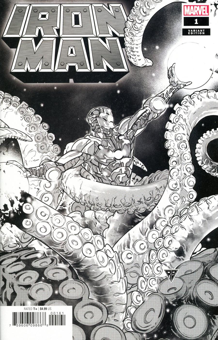 Iron Man Vol 6 #1 Cover L Incentive RB Silva Launch Sketch Cover