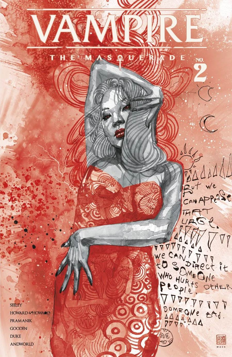 Vampire The Masquerade #2 Cover C Variant David Mack Blood Foil Cover