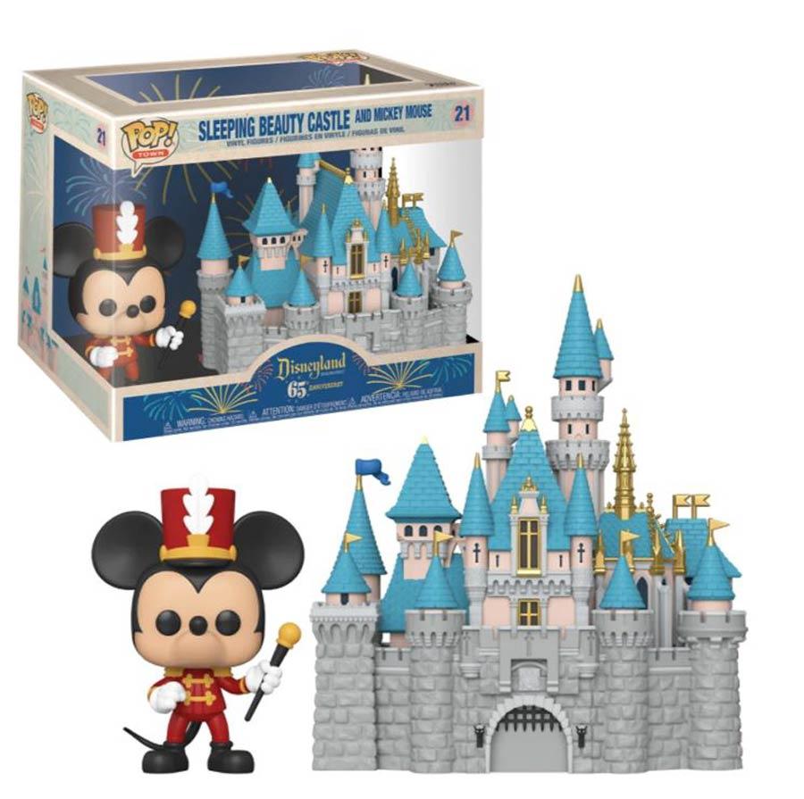 POP Town Disneyland 65th Anniversary Castle With Mickey Vinyl Figure