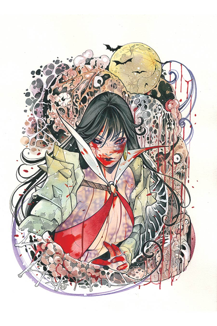 DieNamite #1 Cover Z Limited Edition Peach Momoko Vampirella Zombie Virgin Cover