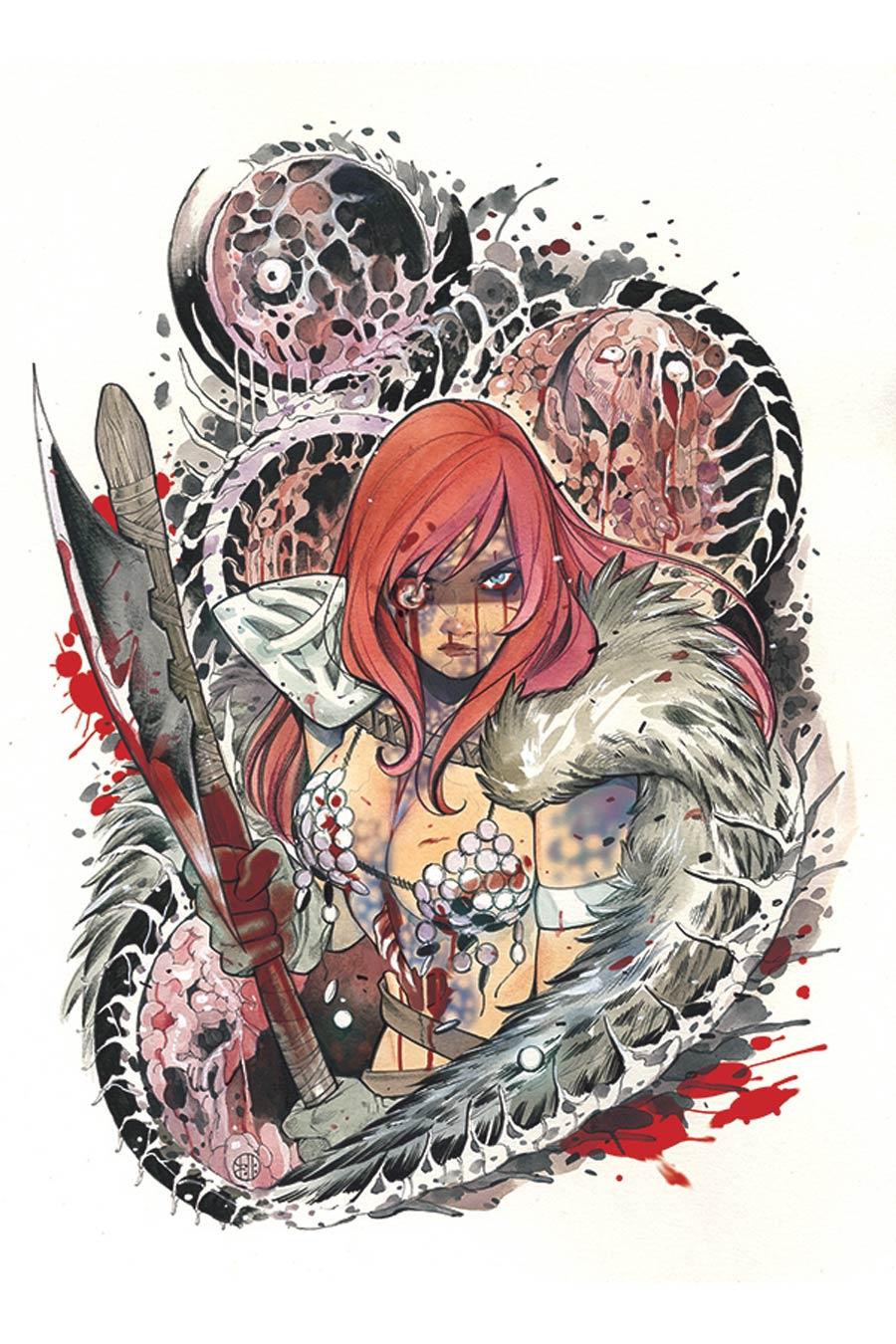 DieNamite #1 Cover Z-A Limited Edition Peach Momoko Red Sonja Zombie Virgin Cover