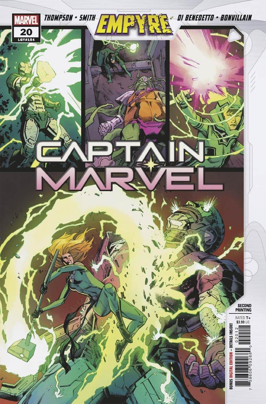 Captain Marvel Vol 9 #20 Cover C 2nd Ptg Variant Cover (Empyre Tie-In)