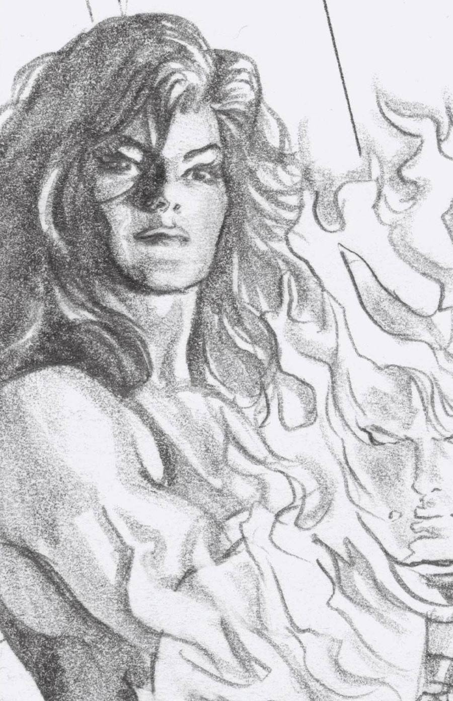 Immortal She-Hulk One Shot Cover E Incentive Alex Ross Timeless She-Hulk Virgin Sketch Cover (Empyre Tie-In)