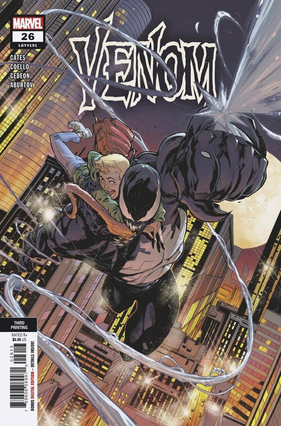 Venom Vol 4 #26 Cover F 3rd Ptg Variant Cover