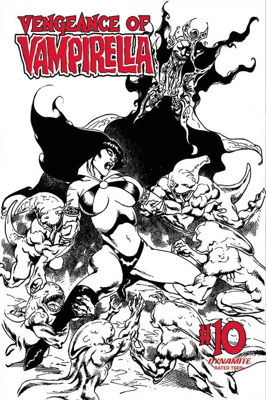 Vengeance Of Vampirella Vol 2 #10 Cover G Incentive Roberto Castro Black & White Cover