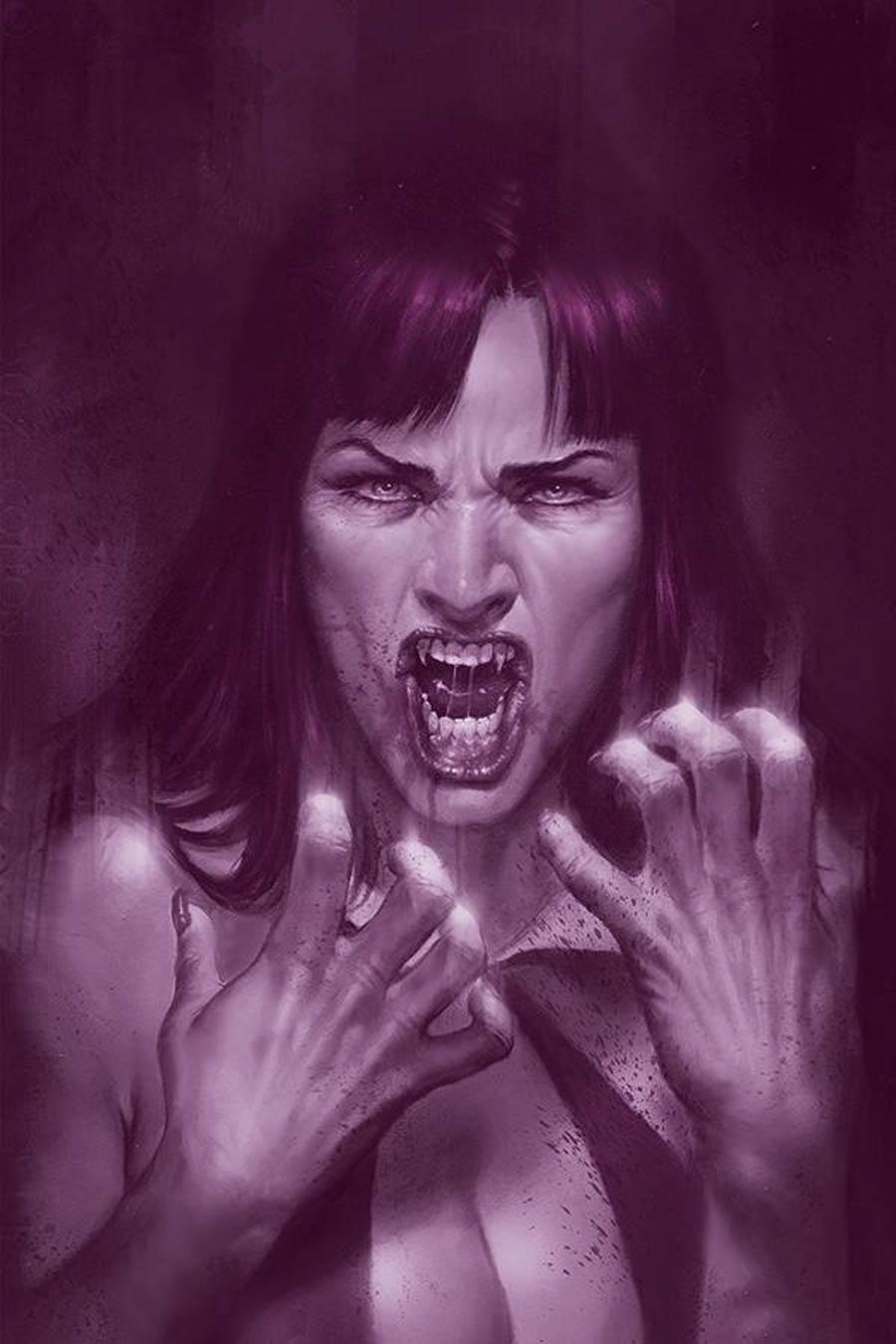 Vengeance Of Vampirella Vol 2 #10 Cover N Incentive Lucio Parrillo Tint Virgin Cover